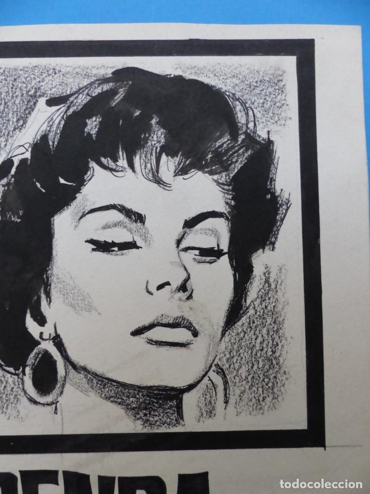 Cine: SENDA PROHIBIDA, LILIA PRADO, ENRIQUE RAMBAL - ORIGINAL PINTADO A MANO POR MONTALBAN - AÑOS 1970 - Foto 4 - 143191906