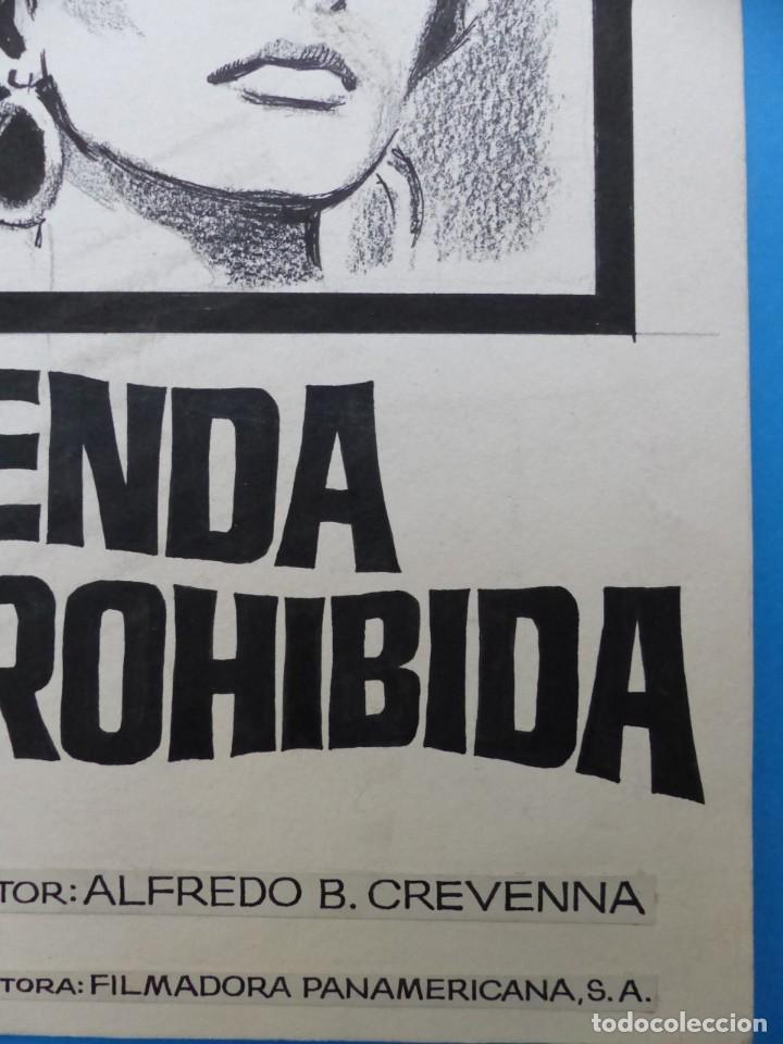 Cine: SENDA PROHIBIDA, LILIA PRADO, ENRIQUE RAMBAL - ORIGINAL PINTADO A MANO POR MONTALBAN - AÑOS 1970 - Foto 5 - 143191906