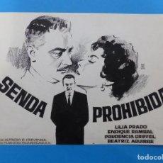 Cinema - SENDA PROHIBIDA, LILIA PRADO, ENRIQUE RAMBAL - ORIGINAL PINTADO A MANO POR MONTALBAN - AÑOS 1970 - 143192186