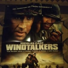 Cine: POSTER CINE : WINDTALKERS ( NICOLAS CAGE, JOHN WOO ). Lote 143193450