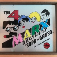 Cine: CARTEL CUADRO THE 4 MARX BROTHERS 'SOPA DE GANSO' - A PARAMOUNT PICTURE - CRISTAL HERMANOS. Lote 143205493