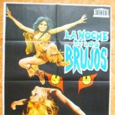 Cine: CARTEL DE CINE LA NOCHE DE LOS BRUJOS DEL AÑO 1974 AMANDO DE OSSORIO. Lote 143291354