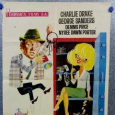 Cine: LADRON A LA FUERZA. CHARLIE DRAKE, GEORGE SANDERS , DENNIS PRICE. AÑO 1964. Lote 143310854