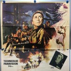 Cine: LOS HEROES DEL TELEMARK - KIRK DOUGLAS, RICHARD HARRIS - CARTEL GRANDE, AÑO 1966. Lote 143374790