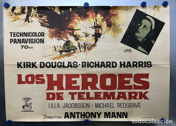 Cine: LOS HEROES DEL TELEMARK - KIRK DOUGLAS, RICHARD HARRIS - CARTEL GRANDE, AÑO 1966 - Foto 6 - 143374790