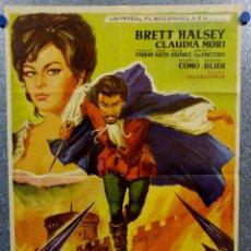 Cine: EL MAGNIFICO AVENTURERO. BRETT HALSEY, CLAUDIA MORI. AÑO 1964. Lote 143405410