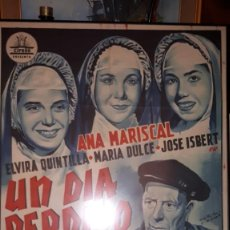 Cine: ~~~~ CARTEL DE CINE ORIGINAL - CIFESA - UN DIA PERDIDO, PEPE ISBERT - ANA MARISCAL ~~~~. Lote 143433254