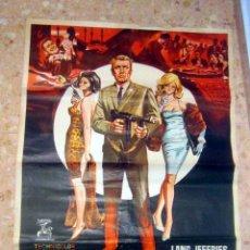 Cine: LOS ESPÍAS MATAN EN SILENCIO. POSTER ORIGINAL 1966 ESTRENO 70 X 100 APROXIMADAMENTE. Lote 143574266