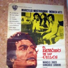Cine: EL DEMONIO DE LOS CELOS, MARCELLO MASTROIANNI, MONICA VITTI, ORIGINAL 70 X 100 AÑO 1970. Lote 143575134