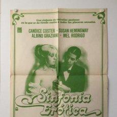 Cine: SINFONIA EROTICA - POSTER CARTEL ORIGINAL - JESUS JESS FRANCO LINA ROMAY MARQUES DE SADE. Lote 143692258