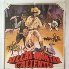 Cine: SILLAS DE MONTAR CALIENTES - POSTER CARTEL ORIGINAL - MEL BROOKS BLAZING SADDLES GENE WILDER. Lote 143710490