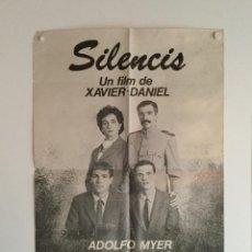 Cine: SILENCIS - POSTER CARTEL ORIGINAL - OCAÑA ADOLFO MYER CARLES ARTIGAS XAVIER DANIEL TEMA GAY. Lote 143710934