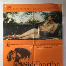 Cine: SIDDHARTHA - POSTER CARTEL ORIGINAL - SHASHI KAPOOR CONRAD ROOKS HERMAN HESSE. Lote 143728798