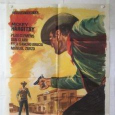 Cine: EL SHERIFF NO DISPARA - POSTER CARTEL ORIGINAL - MICKEY HARGITAY DAN CLARK MANUEL ZARZO JANO. Lote 143730334