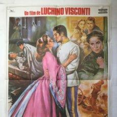 Cine: SENSO - POSTER CARTEL ORIGINAL - FARLEY GRANGER ALIDA VALLI MASSIMO GIROTTI LUCHINO VISCONTI. Lote 143742298