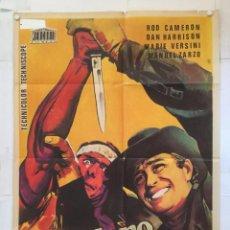 Cine: EL SENDERO DEL ODIO - POSTER CARTEL ORIGINAL - ROD CAMERON MARIO GIROLAMI SPAGHETTI WESTERN. Lote 143742686
