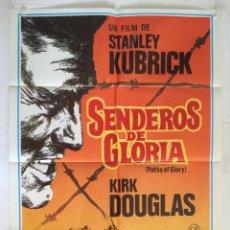 Cine: SENDEROS DE GLORIA - POSTER CARTEL ORIGINAL - KIRK DOUGLAS STANLEY KUBRICK 1ª GUERRA MUNDIAL. Lote 143742982