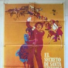 Cine: EL SECRETO DE SANTA VITTORIA - POSTER CARTEL ORIGINAL - ANTHONY QUINN ANNA MAGNANI 2ª GUERRA MUNDIAL. Lote 143793846