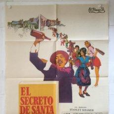 Cine: EL SECRETO DE SANTA VITTORIA - POSTER CARTEL ORIGINAL - ANTHONY QUINN ANNA MAGNANI 2ª GUERRA MUNDIAL. Lote 143796414