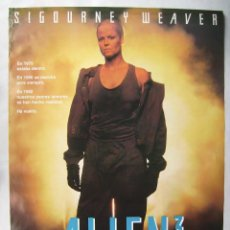 Cine: ALIEN 3, CON SIGOURNEY WEAVER. POSTER 68,5 X 98 CMS. 1992.. Lote 143812206