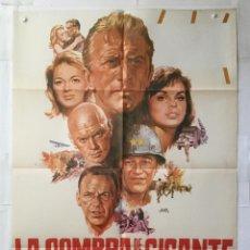 Cine: LA SOMBRA DE UN GIGANTE - POSTER CARTEL CINE ORIGINAL KIRK DOUGLAS YUL BRYNNER JOHN WAYNE. Lote 144361182