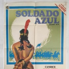 Cine: SOLDADO AZUL - POSTER CARTEL CINE ORIGINAL - SOLDIER BLUE CANDICE BERGEN PETER STRUSS D PLEASENCE. Lote 144375646