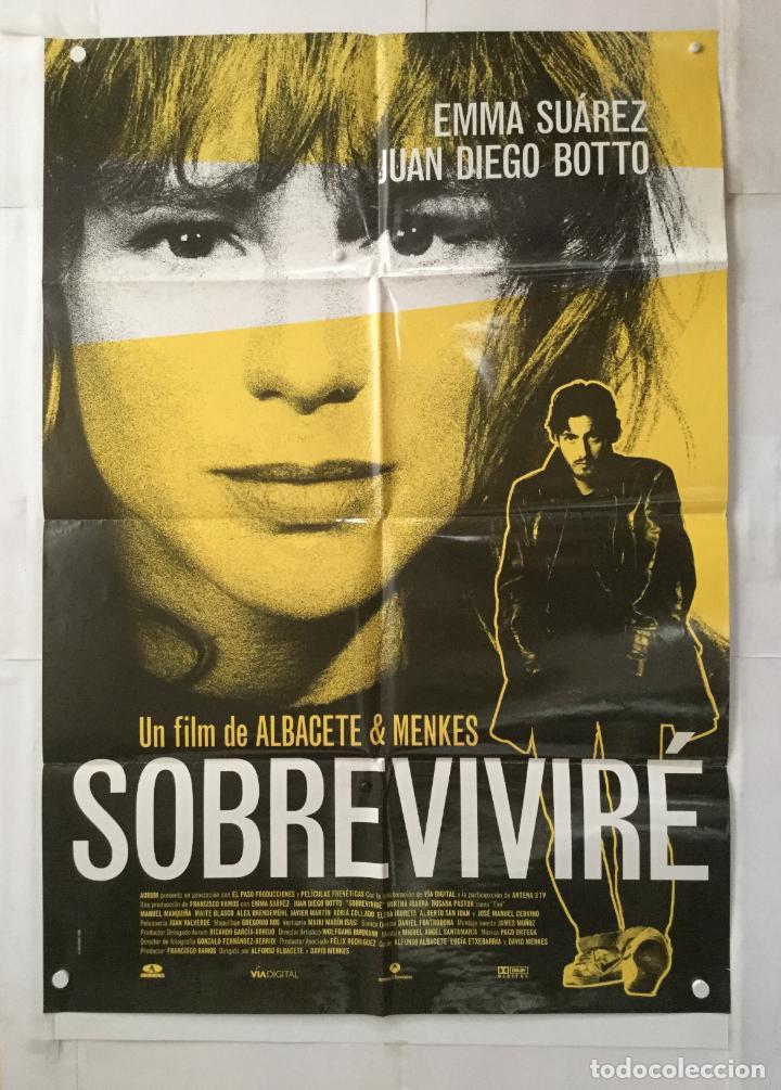 SOBREVIVIRE - POSTER CARTEL CINE ORIGINAL - EMMA SUAREZ JUAN DIEGO BOTTO ROSANA PASTOR (Cine - Posters y Carteles - Clasico Español)