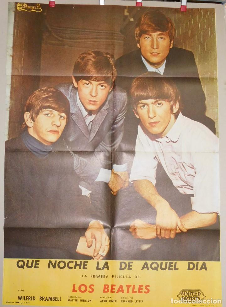 THE BEATLES.... QUE NOCHE LA DE AQUEL DIA....A HARD DAY'S NIGHT . POSTER (Cine - Posters y Carteles - Musicales)