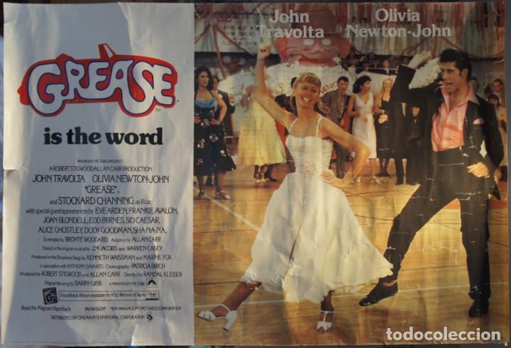 POSTER ORIGINAL DE LA PELÍCULA GREASE, -GREASE IS THE WORD-.EN INGLES. AÑO 1978 (Cine - Posters y Carteles - Musicales)