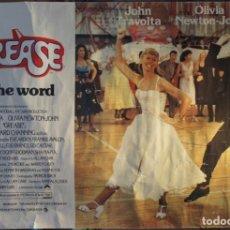 Cine: POSTER ORIGINAL DE LA PELÍCULA GREASE, -GREASE IS THE WORD-.EN INGLES. AÑO 1978. Lote 144464126