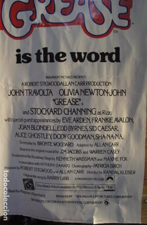 Cine: Poster original de la película Grease, -Grease is the Word-.En ingles. Año 1978 - Foto 6 - 144464126