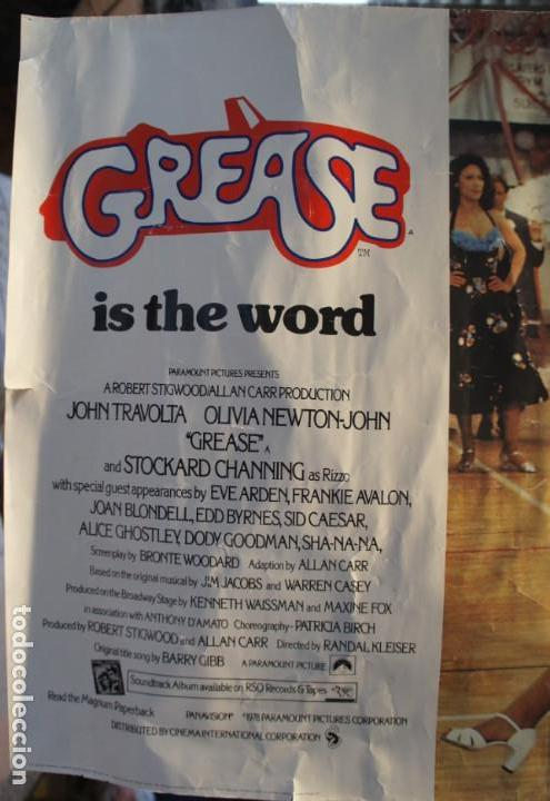 Cine: Poster original de la película Grease, -Grease is the Word-.En ingles. Año 1978 - Foto 9 - 144464126