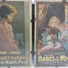 Cine: DOS POSTERS ORIGINALES CONSTANCE TAL MADGE (GOOD NIGHT, PAUL) Y THE BABES IN THE WOODS. Lote 176955938