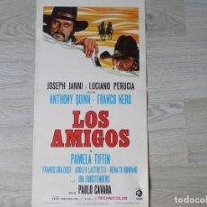 Cine: CARTEL ITALIANO - LOS AMIGOS - FRANCO NERO - ANTONY QUINN - ORIGINAL 32 X 70 CM APROX. Lote 144851718