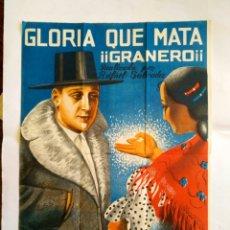 Cine: CARTEL DE CINE DE GLORIA QUE MATA, ESPAÑA 1922.. Lote 145265761