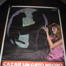 Cine: CAZAR UN GATO NEGRO. JULIA GUTIERREZ CABA, LUIS PRENDES. 100 X 70. AÑO 1976. Lote 145295862