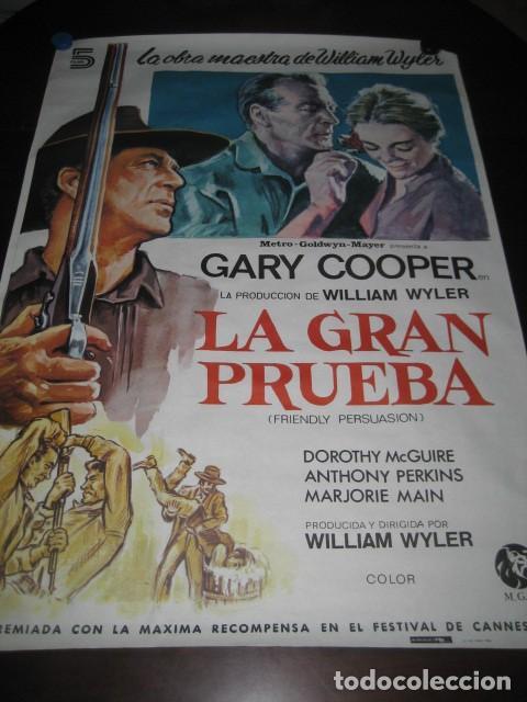 LA GRAN PRUEBA. GARY COOPER, ANTHONY PERKINS. 100 X 70. AÑO 1982 (Cine - Posters y Carteles - Westerns)