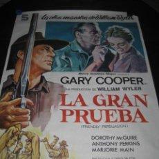 Cine: LA GRAN PRUEBA. GARY COOPER, ANTHONY PERKINS. 100 X 70. AÑO 1982. Lote 145296058