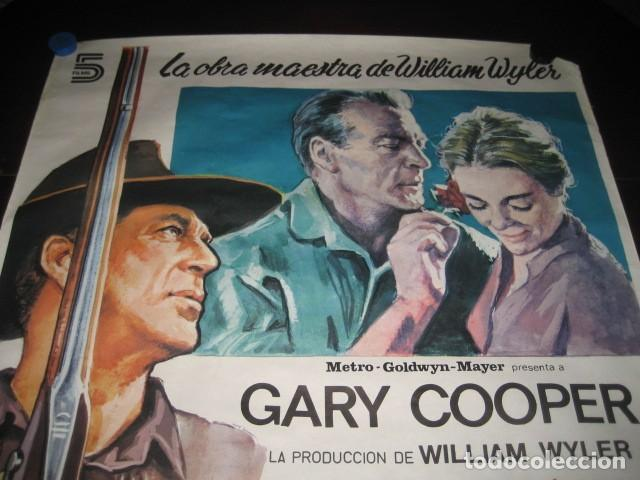 Cine: LA GRAN PRUEBA. GARY COOPER, ANTHONY PERKINS. 100 X 70. AÑO 1982 - Foto 2 - 145296058