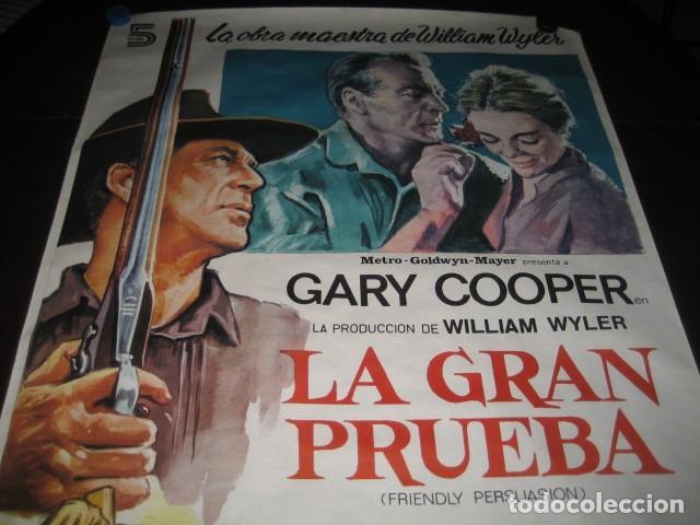 Cine: LA GRAN PRUEBA. GARY COOPER, ANTHONY PERKINS. 100 X 70. AÑO 1982 - Foto 3 - 145296058