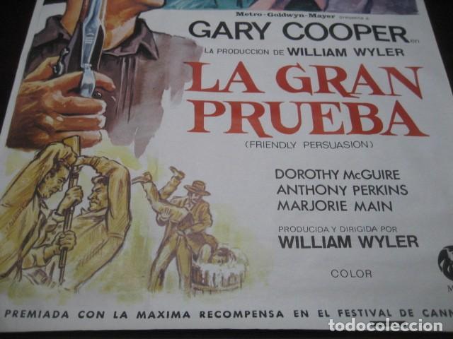 Cine: LA GRAN PRUEBA. GARY COOPER, ANTHONY PERKINS. 100 X 70. AÑO 1982 - Foto 4 - 145296058