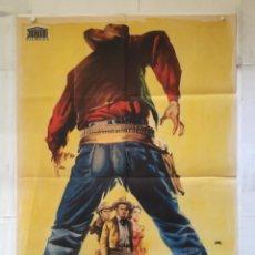 Cine: TIERRA DE VIOLENCIA - POSTER CARTEL ORIGINAL - ROBERT RYAN VIRGINIA MAYO JEFFREY HUNTER JANO. Lote 145341174