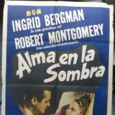Cine: ALMA EN LA SOMBRA POSTER INTERNACIONAL USA EN ESPAÑOL ( RAGE IN HEAVEN ), INGRID BERGMAN. Lote 145552822