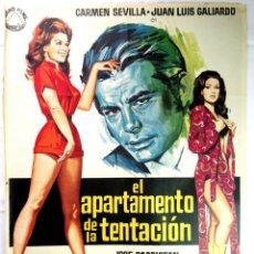 Cine: EL APARTAMENTO DE LA TENTACIÓN (1971) - POSTER ORIGINAL DE LA PELÍCULA. Lote 145572754