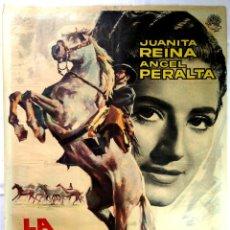 Cine: LA NOVIA DE JUAN LUCERO - 1.959 - POSTER ORIGINAL - JUANITA REINA. Lote 145574238