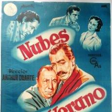 Cine: NUBES DE VERANO - 1.954 - POSTER ORIGINAL (LITOGRAFÍA). Lote 145575010