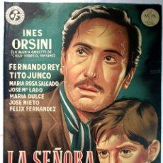 Cine: LA SEÑORA DE FATIMA - 1.951 - POSTER ORIGINAL (LITOGRAFÍA) - EN MUY BUEN ESTADO. Lote 145576314
