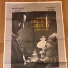 Cine: CARTEL POSTER ORIGINAL FREUD PASIÓN SECRETA.MONTGOMERY CLIFT. Lote 145579266