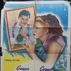 Cine: TENIAS QUE SER TU POSTER INTERNACIONAL USA EN ESPAÑOL,1947,GINGER ROGERS,CORNEL WILDE,COLUMBIA . Lote 145658606