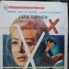 Cine: MADAME X POSTER INTERNACIONAL USA EN ESPAÑOL,LANA TURNER,1966. Lote 145658966
